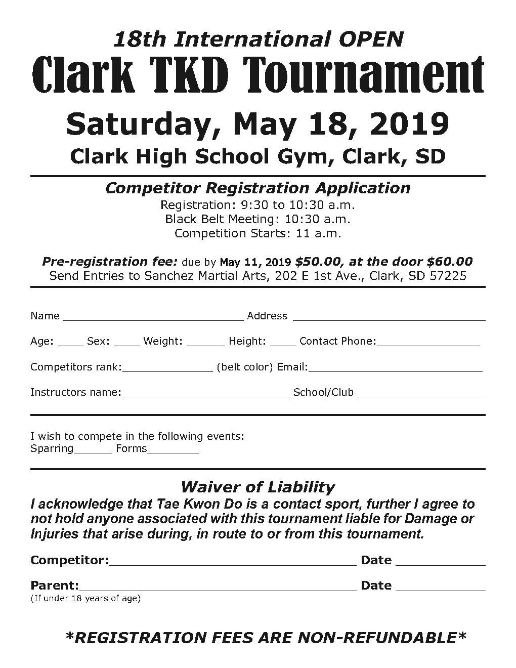 18th clark registration-2019